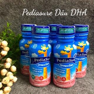 [Date 8 2021] Sữa nước Pediasure Dâu Grow Gain 237ml Mỹ, Giàu DHA