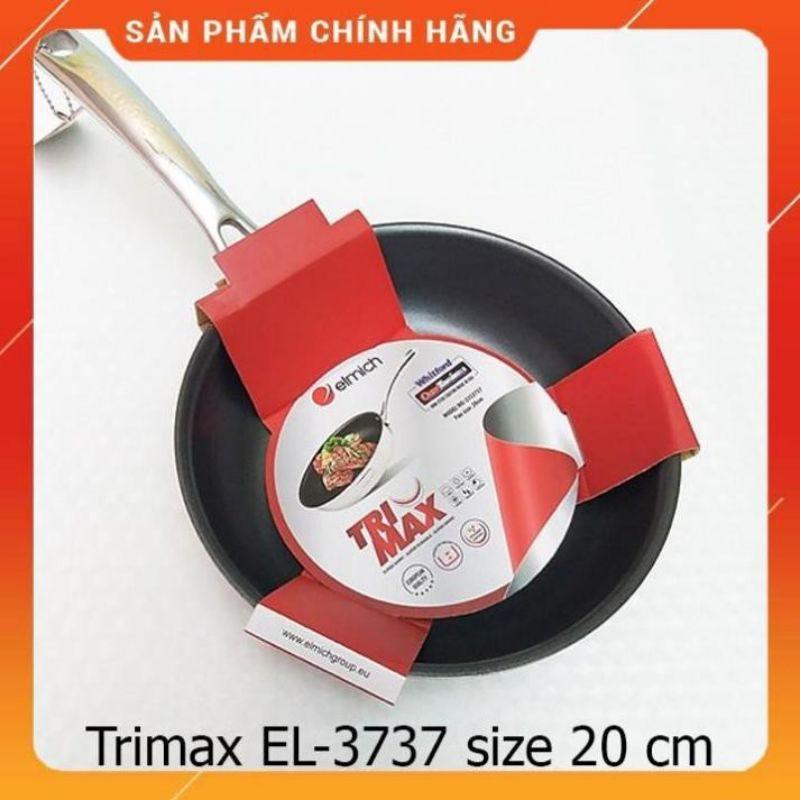 CHẢO INOX ELMICH CAO CẤP 2 LỚP ĐÁY LIỀN TRI-MAX 20CM, 24CM, 26CM, 28CM 3737 3738 3739 3740