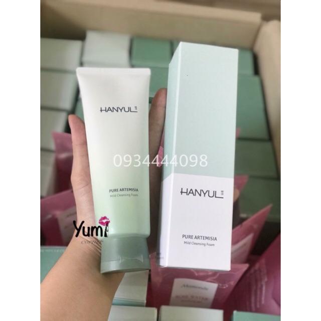 Sữa rửa mặt trị mụn Hanyul Pure Artemisia Mild Cleansing Foam 180ML