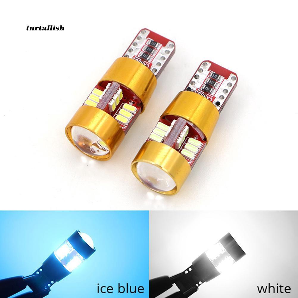 Set 2 bóng đèn T10 W5W smd3014 chiếu sáng biển số xe hơi chuyên dụng