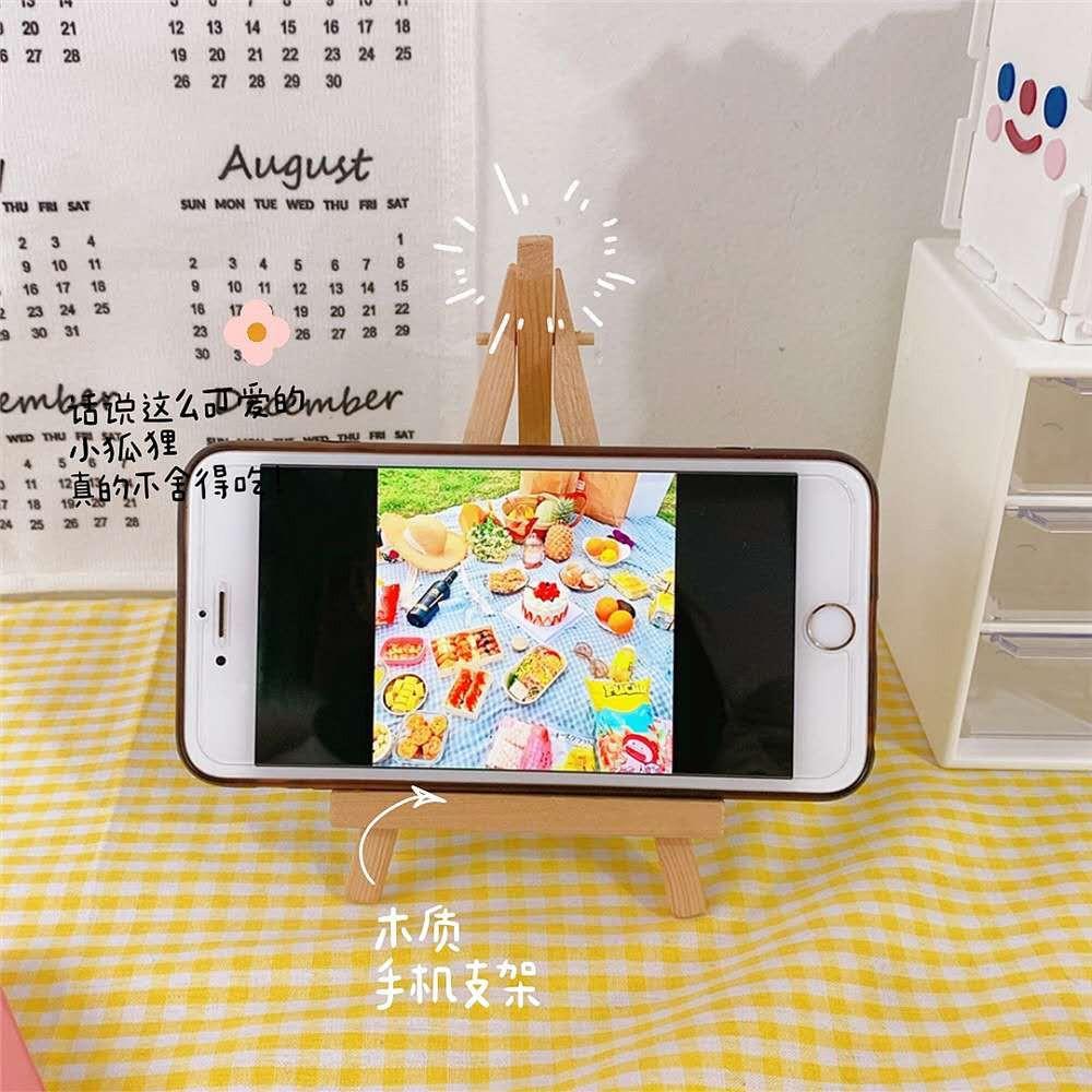 <24h delivery>W&G Giá đỡ điện thoại bằng gỗ mới đa năng giá đỡ máy tính bảng đa năng mini đơn giản sáng tạo