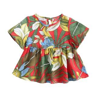 Đầm Sanlutoz In Hoa Màu Đỏ Dành Cho Bé Gái Thiết Kế thumbnail