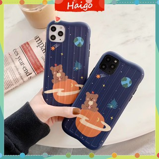 Soft Plastic Phone Cases Cute space bear Case suitable for iPhone11 PRO MAX 6/6s 7/8plus X/XS XR XSMAX #HG1001