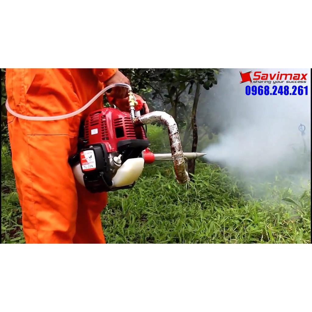 Máy phun khói Mitsuyama TL-35N, máy phun thuốc phòng dịch diệt trừ côn trùng cho trang trại chăn nuôi, vườn cây ăn quả