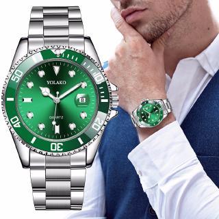 Đồng hồ thể thao bằng thép không gỉ kiểu dáng doanh nhân sang trọng kèm lịch dành cho nam