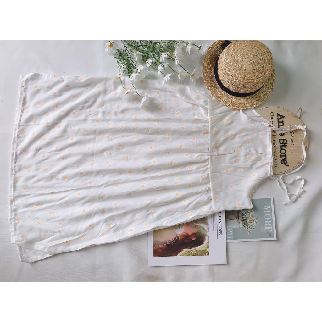 Đầm 2 Dây Nữ 🦋 Váy Hồng 2 Dây Hoa Nhí Vintage 🦋