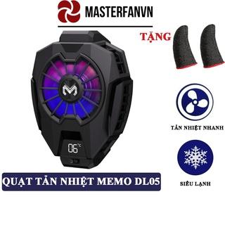 Quạt tản nhiệt điện thoại MEMO DL05 – Siêu lạnh, hiển thị nhiệt độ, LED RGB, Kẹp thu vào 2 chiều