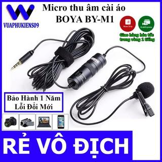 [Mã ELFLASH5 giảm 20K đơn 50K] [Chính Hãng] Micro ghi âm cài áo Boya M1 dùng cho điện thoại, máy tính, máy quay