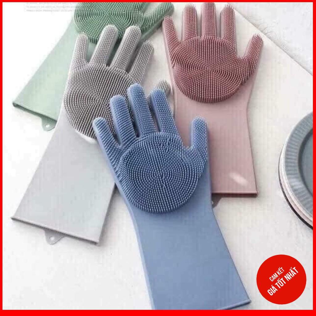 [ Có Sẵn ]  Găng tay đa năng bằng silicon có gai