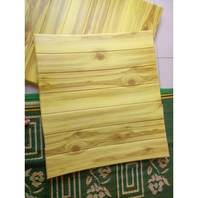 combo 15 tấm xốp dán tường vân gỗ vàng loại 1