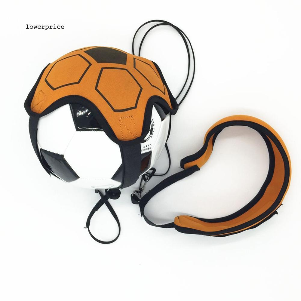 LP_Football Strap Kick Trainer Control Skills Solo Soccer Training Kid Adjustable Tool