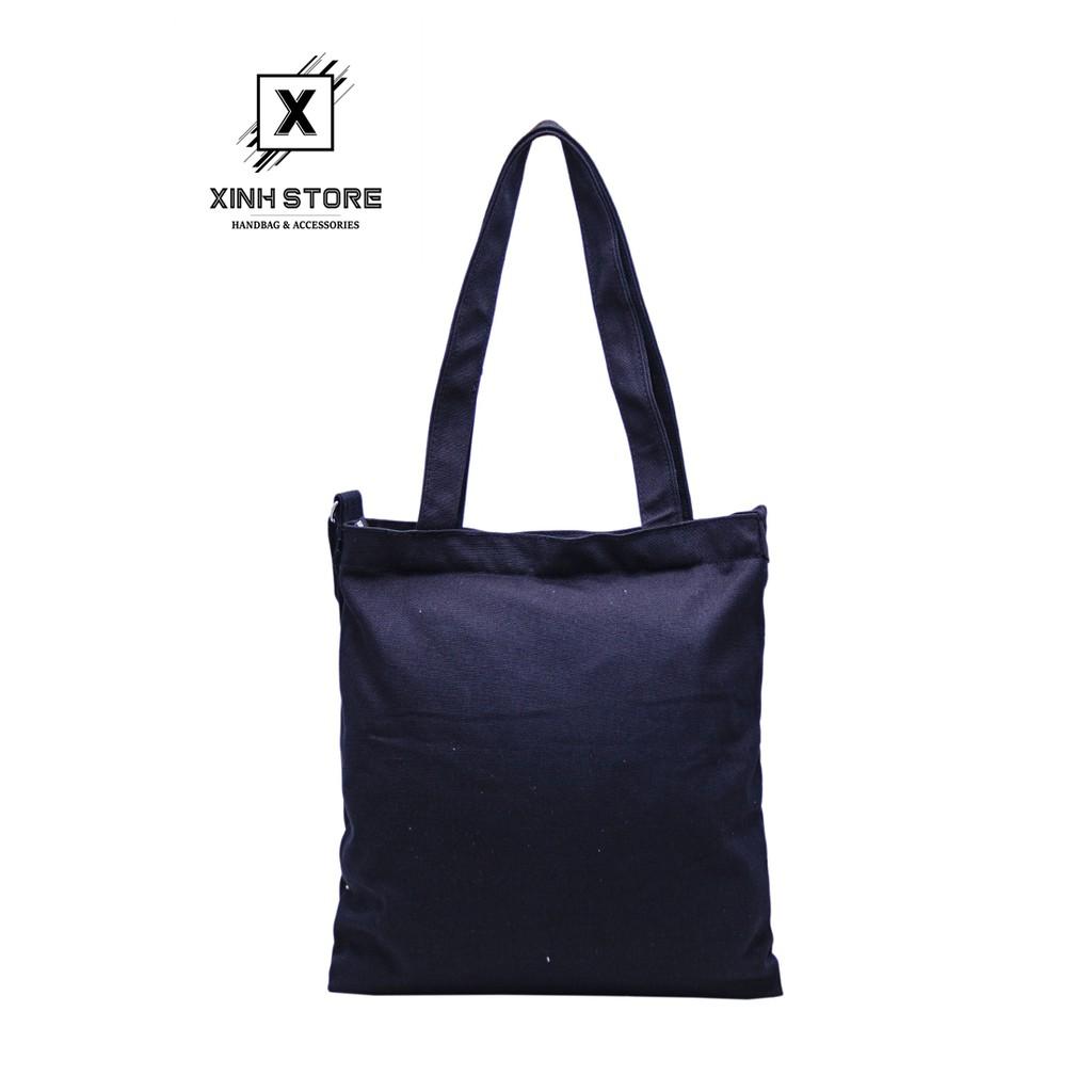 Túi Vải Never Xanh ( Chữ Trắng ) Xinh Store