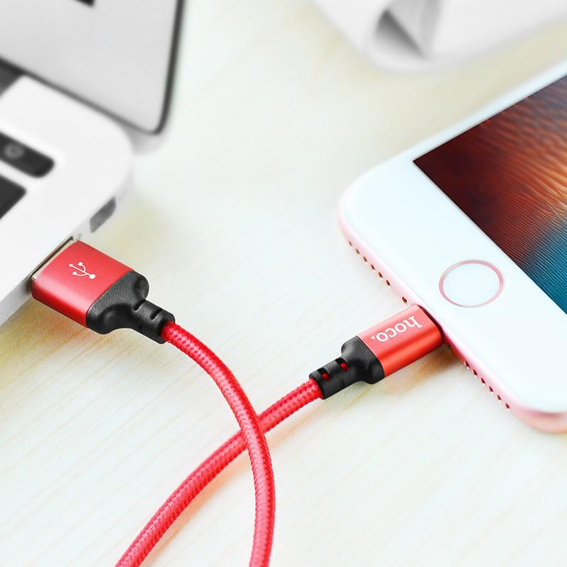 Cáp sạc Lightning Hoco X14 sạc nhanh 2.0A cho iPhone/iPad