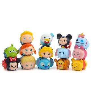 #ReadyStock# 14Pcs/set Mickey Minnie Doll Gift For Kid Toys