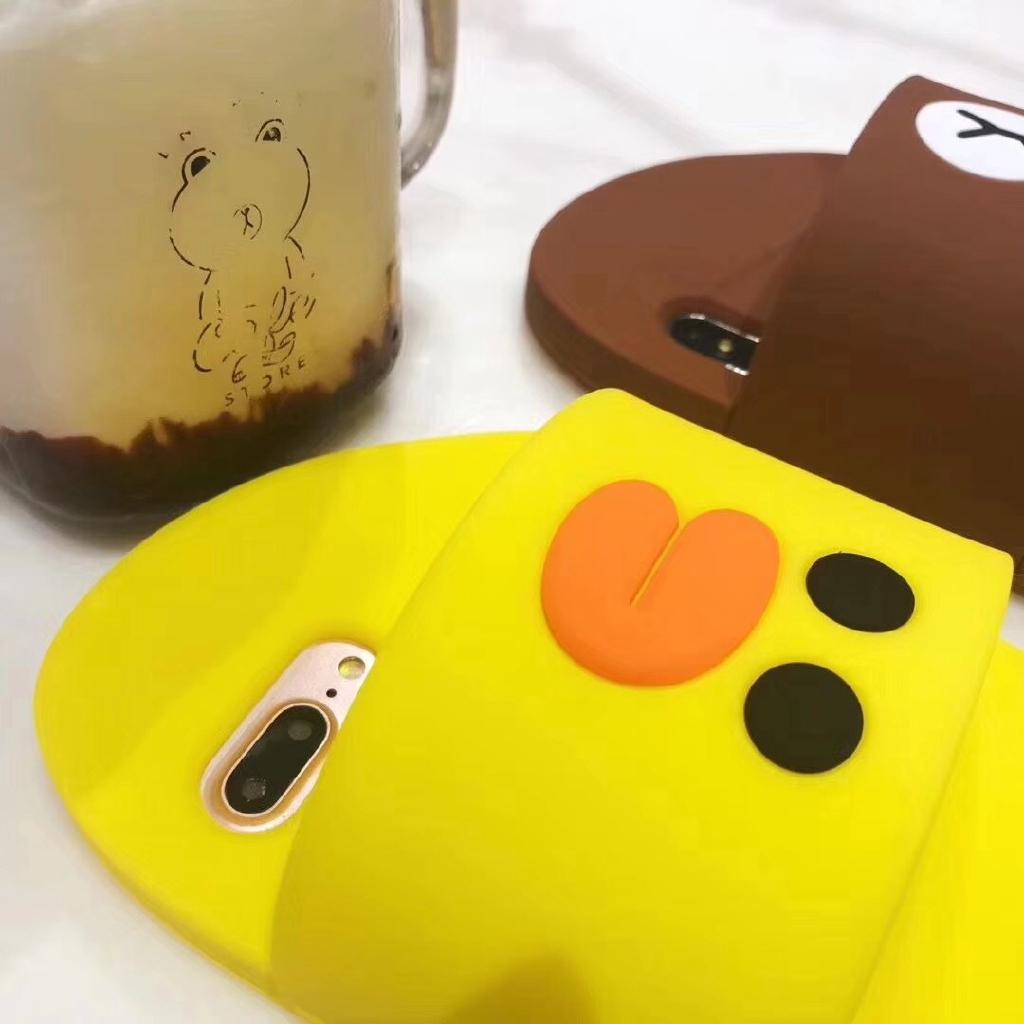 Ốp lưng nhựa mềm hình chiếc dép đáng yêu cho iPhone xs max xr 7 plus 8 6S PLUS