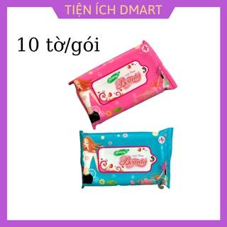 khăn giấy ướt BONNY BEAUTY sử dụng nước dưỡng da chứa vitamin E , 1 gói 10 khăn thumbnail