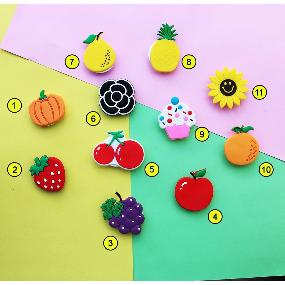 [Link 2] Giá đỡ điện thoại SILICON đa năng hình trái cây hoa quả siêu dễ thương