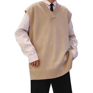 Áo Sweater không tay cổ chữ V có 3 màu sắc trẻ trung năng động dành cho nam giới