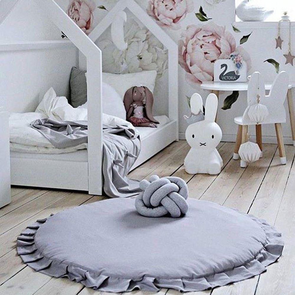 100cm Crawling Sleeping Newborn Infant Carton Animal Round Baby Play Mats