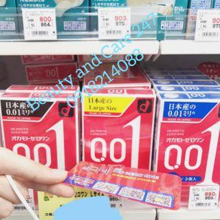 Bao cao su mỏng nhất thế giới Okamoto 0.01