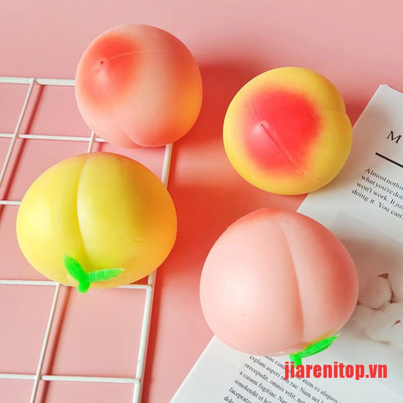 《new》Colossal Soft Peach Cream Scented Slow Rising Stress Relief Squeeze Toy
