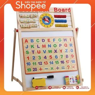 [XẢ KHO GIÁ SỐC] Bảng từ 2 mặt education Board và bộ số kèm bảng gỗ có núm phương tiện – CHẤT LƯỢNG CAO