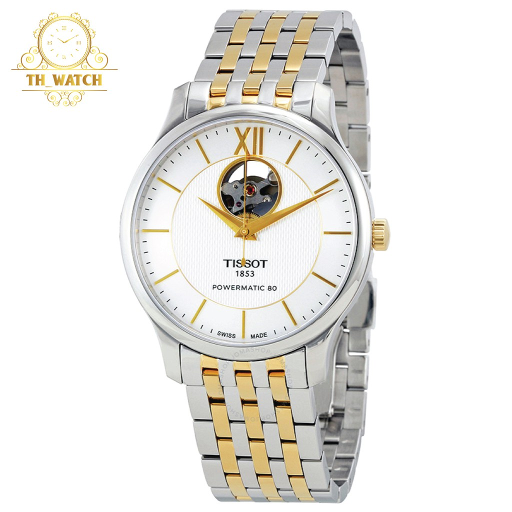 Đồng hồ Tissot Nam 1853 automatic, kính shapphire, dây thép không gỉ T063.907.22.038.00