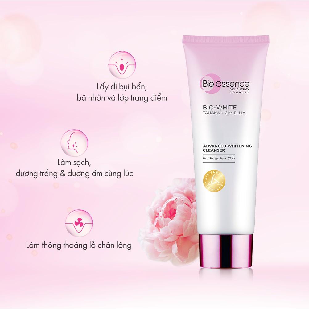 Sữa rửa mặt BioEssence BioWhite Advanced Whitening Cleanser chiết xuất  Tanaka&Camellia 100g | Shopee Việt Nam