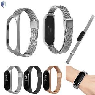 Yy Metal Wrist Strap Wrist Bands Bracelet Strap Belt for Xiaomi Mi Band 3 @VN