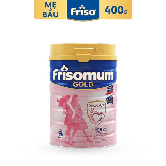 [Nhập MKBMFCV35 giảm 35K đơn 599K] Sữa bột FRISOMUM GOLD Hương VANI 400G