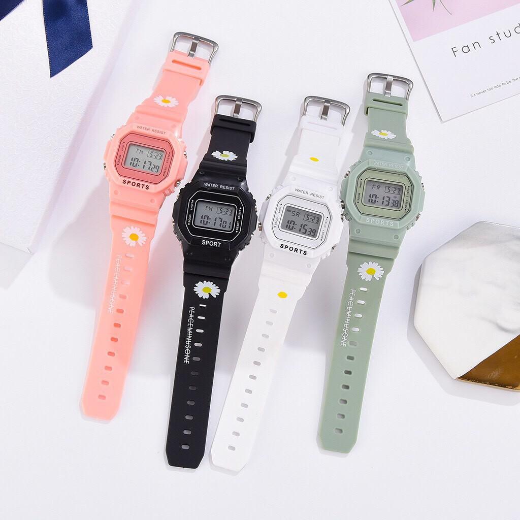 Đồng hồ điện tử nam nữ Aosun dây hoa cúc mẫu mới cực hot N652