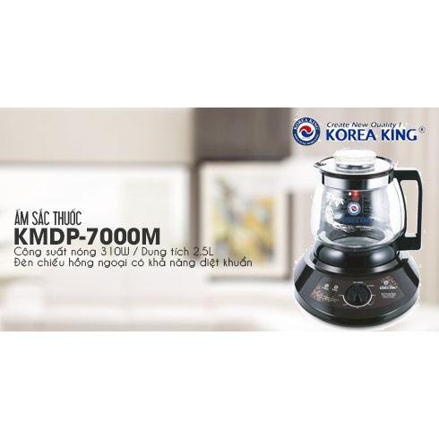 [Mã 267ELSALE hoàn 7% đơn 300K] Ấm Sắc Thuốc Korea King KMDP-7000M (3L) - Hàng Chính Hãng