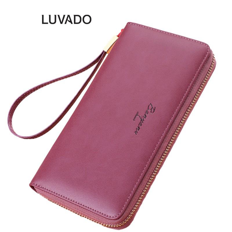 Ví nữ dài cầm tay đẹp da thật thời trang BANYANU nhiều ngăn cao cấp đựng tiền LUVADO VD356