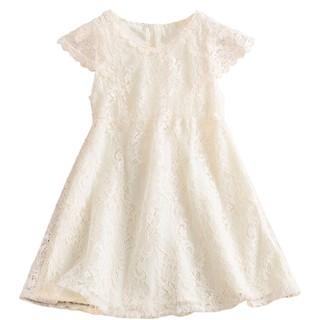 NNJXD Đầm Công Chúa NNJXD Phối Ren Cho Bé Gái Từ 2-8 Tuổi
