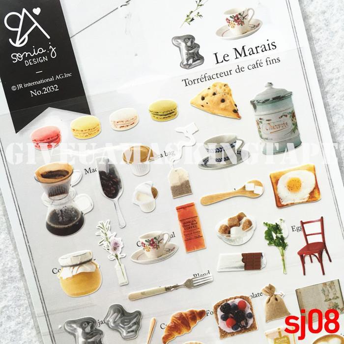 sticker pvc dán tường hình bánh macaron