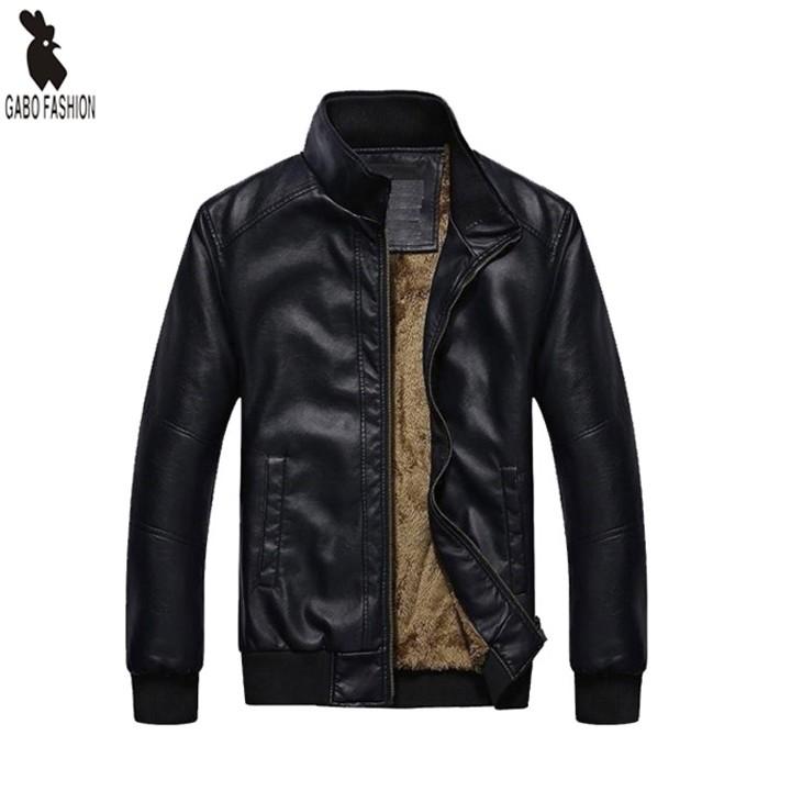 Áo khoác da nam lót lông cao cấp Gabo Fashion AKD129