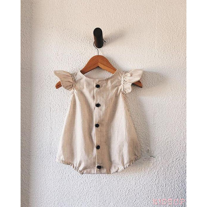SL-Newborn Baby Girl Clothes Stripe Romper Jumpsuit Playsuit Overall OutfitSummer