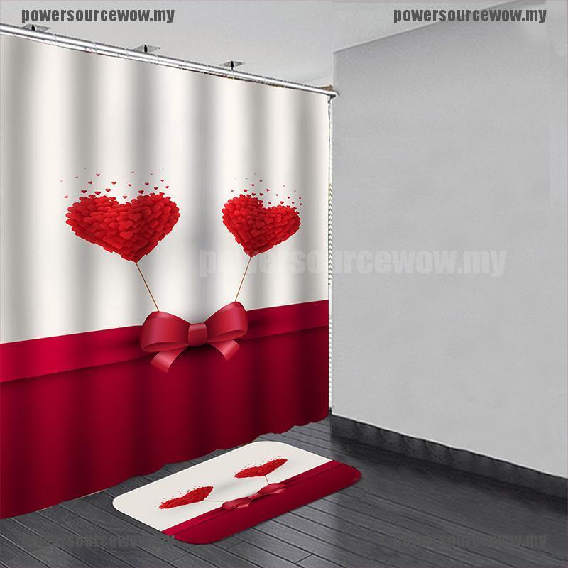 Bộ Rèm Cửa + Rèm Cửa + Rèm Phòng Tắm Chống Thấm Nước / Nấm Mốc Tiện Dụng