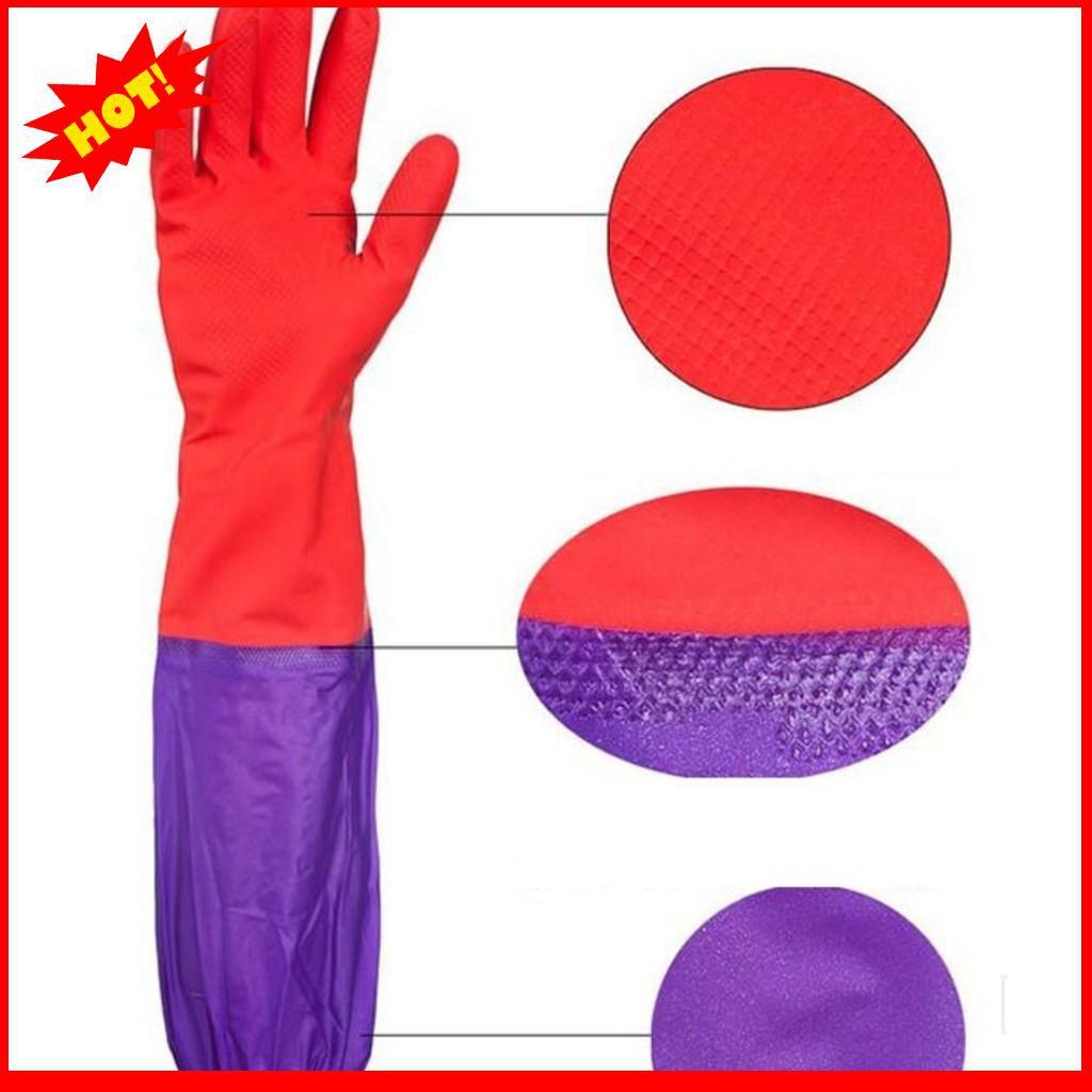 [CHẤT LƯỢNG CAO]  Găng tay cao su lót nỉ rửa bát
