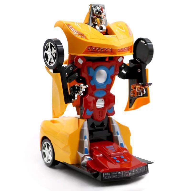 Xe Ô Tô Biến Hình Thành Robot Transformers (Đỏ Phối Vàng)