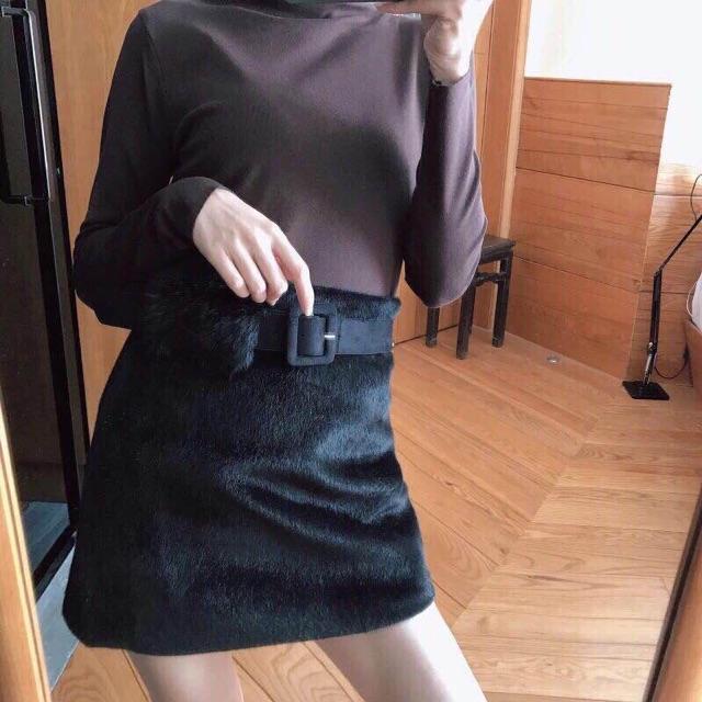 Chân váy lông chữ A