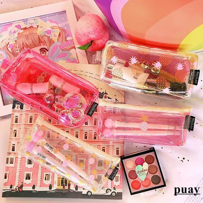 Ramen balls cartoon transparent pink fruit simple student cr