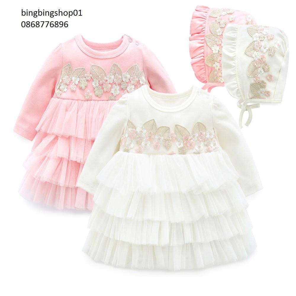 váy xếp li 2 màu cho bé