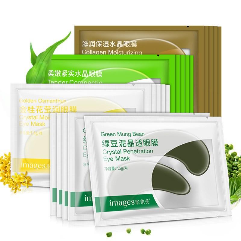 Mặt nạ làm mờ quầng thâm tan bọng mắt Green Mung Bean Crystal Penetration Eye Mask 7.5gr