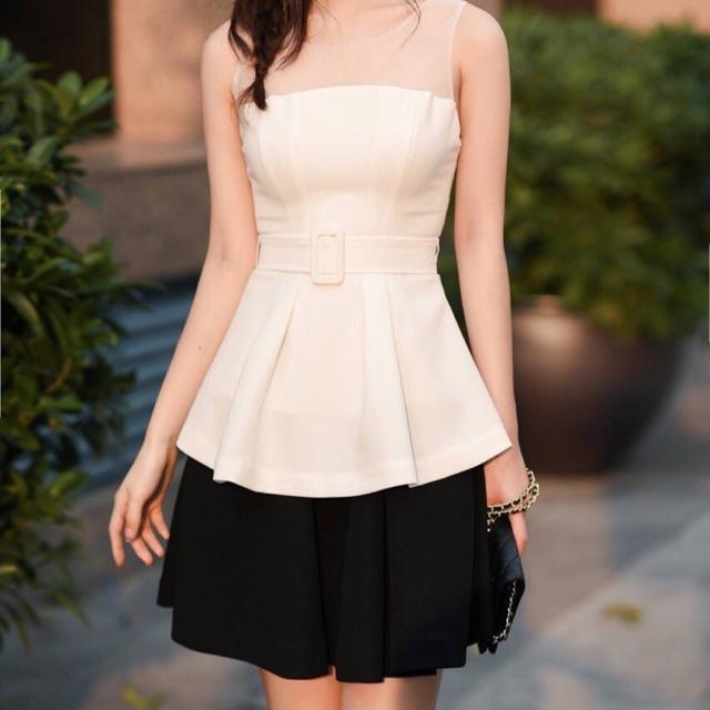 Set áo váy kiểu áo peplum và chân váy xòe - 15226939 , 542486005 , 322_542486005 , 420000 , Set-ao-vay-kieu-ao-peplum-va-chan-vay-xoe-322_542486005 , shopee.vn , Set áo váy kiểu áo peplum và chân váy xòe