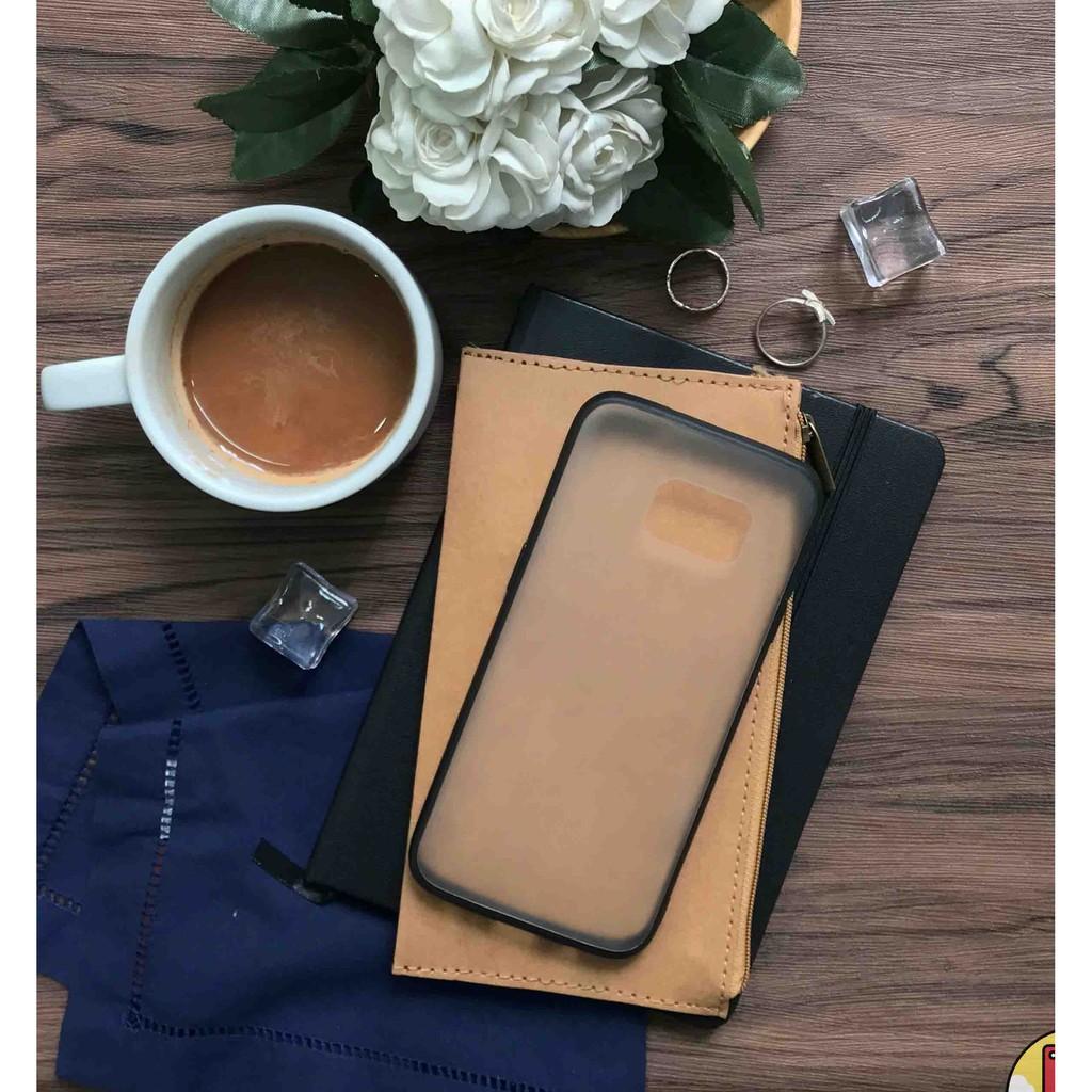 Ốp lưng trong mờ viền đen cho điện thoại Samsun Galaxy Note 8 siêu đẹp siêu chất