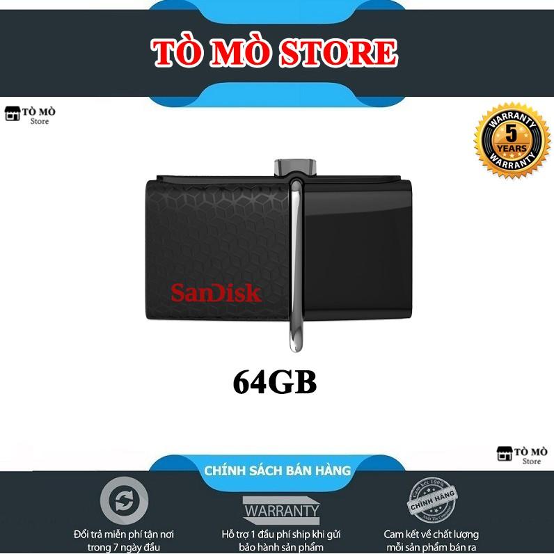 USB OTG 3.0 SanDisk Ultra 64GB 150MB/s – Bảo hành 5 năm Giá chỉ 235.000₫