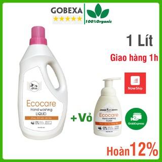 Nước rửa tay Ecocare Hữu Cơ Dạng Bọt tinh dầu cam, quế, nhài chai 1 lít thumbnail
