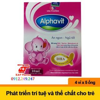 ✅ [CHÍNH HÃNG] Alphavit Ăn Ngon Ngủ Tốt – Giúp bổ sung DHA, acid amin, tăng sức đề kháng, ngừa suy dinh dưỡng