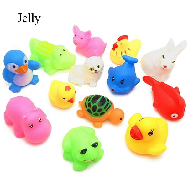 13pcs Soft Bath Toys Animal Floating Toy Gifts for Children Kids Toddlers J345
